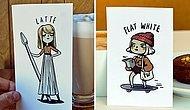 Вам капучино или эспрессо? Кофе вдохновил девушку на создание иллюстраций с очень милыми персонажами