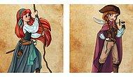 Голландская художница показала, как бы выглядели принцессы Диснея, если бы стали пиратами