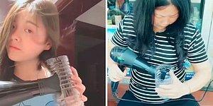 Делаем локоны при помощи бутылки и фена для волос