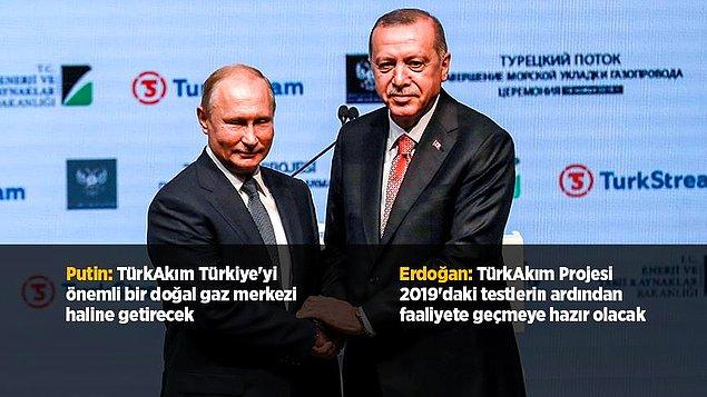 Deniz kısmının tamamlanması dolayısıyla İstanbul Kongre Merkezi'nde tören düzenlendi.