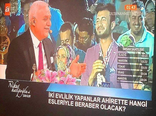 """14. Nihat Hatipoğlu'na her sene güncellenmiş halde gelen """"günah point"""" soruları"""