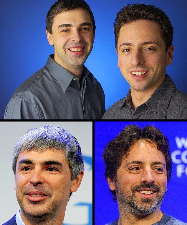 #4 ve #5 Larry Page ve Sergey Brin