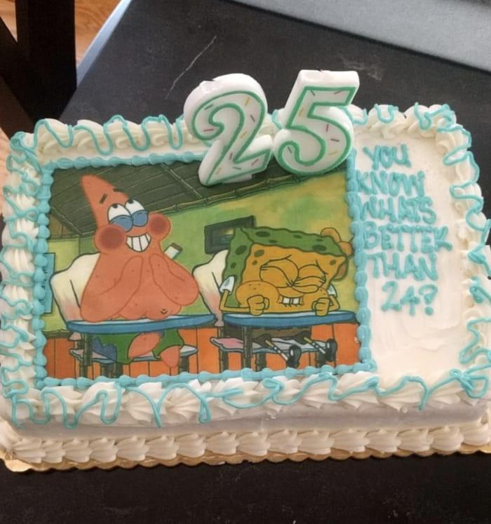And Finally This Girlfriend Who Came Up With The Best Birthday Cake For Her Baes 25th