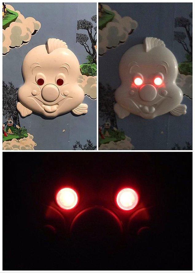 9. Çocuk odası için tasarlanan lamba düğmesi: