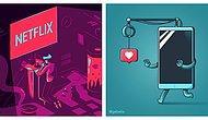 32 остроумные иллюстрации от Элии Коломбо, на понимание которых стоит потратить некоторое время