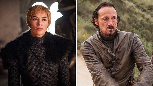 10. Oynadıkları rollere seçilmeden önce Kraliçe Cersei rolündeki Lena Headey ve Bronn rolündeki Jerome Flynn beraberlermiş .
