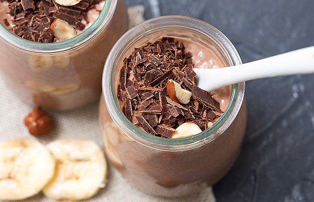 1. Çikolatalı chia puding