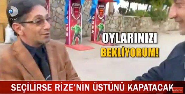 Rize'nin partisiz, bağımsız Belediye Başkanı Adayı Adnan Aydın seçmenleriyle görüşüyor.