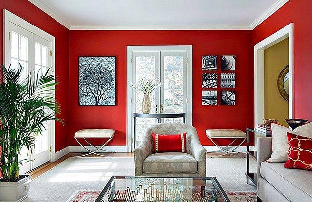 4. Bunu bazen duvarınızı kırmızıya boyayarak sağlayabilirsiniz.