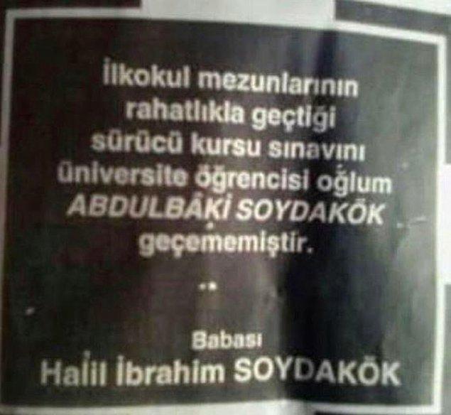 14. Abdulbaki Soydakök, babanın kalbini nasıl kırdın böyle?
