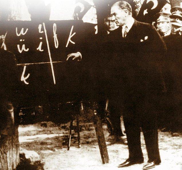 6. 1 Aralık 1928'te yılında ise, yeni Türk harflerinin kullanımı yürürlüğe girdi.