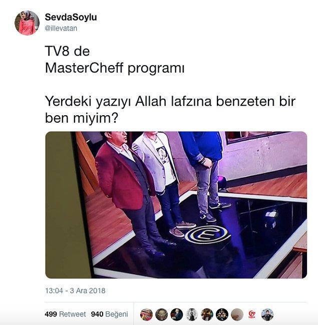 Yarışmanın logosu olan ve tüm dünyadaki formatlarda kullanılan logoyla ilgili Twitter'da ilginç bir iddia ortaya atıldı, logo Allah lafzına benzetildi.