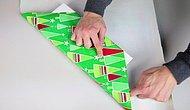 🎄Все гениальное просто: Как упаковать подарок без использования скотча🎄
