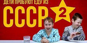 Дети пробуют еду из СССР