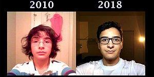 Подросток каждый день в течение 8 лет делал селфи, чтобы увидеть, насколько он изменился