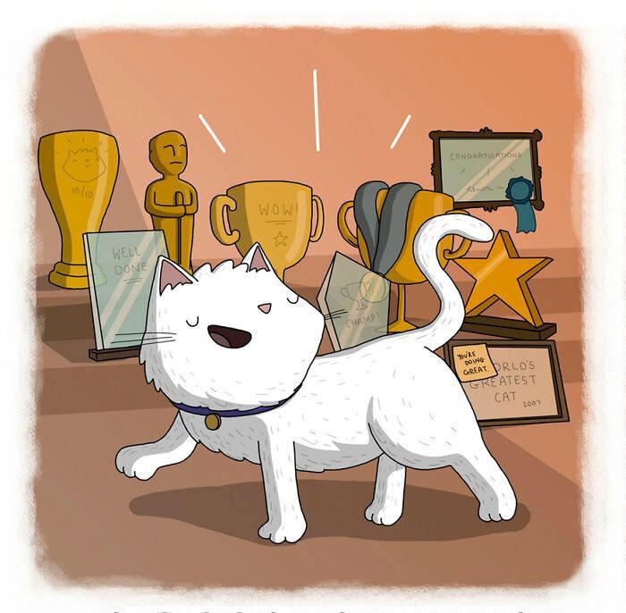 Открытка живопись, картинки на тему доброе слово и кошке приятно
