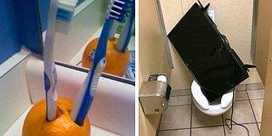 Девушки, крепитесь: 15 твитов о том, что можно увидеть в туалетах и ванных парней