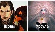 Художник показал, как выглядели бы злодеи Диснея, будь они главными героями