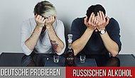Немцы пробуют русский алкоголь