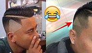 Confused Barber Shaves Play Button Into Man's Hair After Watching A Paused Video!