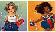 Художник представил супергероев в роли женщин в размере плюс