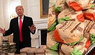Donald Trump Serves Fast Food For Football Team At The White House!