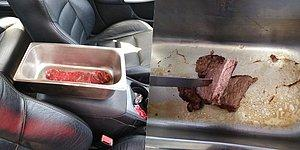Never Leave Your Child In A Hot Car: A Man Left Raw Steak In Hot Car For Hours Cooks To Well-Done!