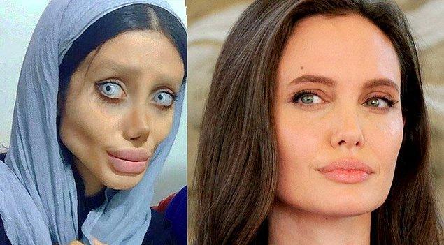 14. Angelina Jolie'ye benzeyeceğim, hayranım derken konu nerelere gelmiş.
