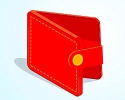 У вас кошелёк красного цвета