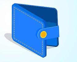 У вас кошелёк голубого (синего) цвета