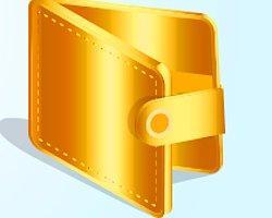 У вас кошелёк золотого цвета