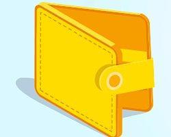 У вас кошелёк жёлтого цвета