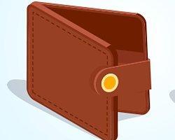 У вас кошелёк коричневого цвета