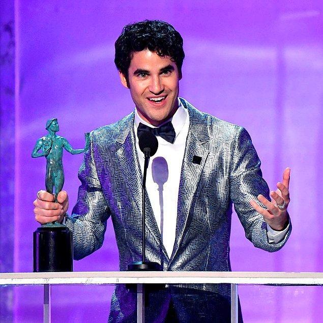 """En İyi Erkek Oyuncu (Mini Dizi veya TV Filmi): Darren Criss, """"Assassination of Gianni Versace"""""""