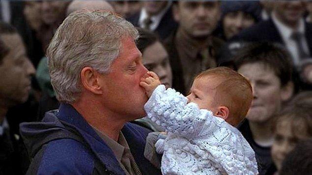 3. Bill Clinton'ın tarihte ilk kez burnunu sıkan Türk: Erkan Bebek