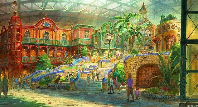 Eğlence parkında Studio Ghibli filmlerinde sık sık gördüğümüz Avrupa tarzı, tuğla evlerden de bol bol yer alacak.