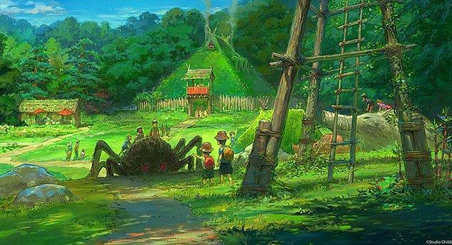 Ana giriş Howl'un Yürüyen Şatosu filmindeki binalara benzer şekilde tasarlanmış.