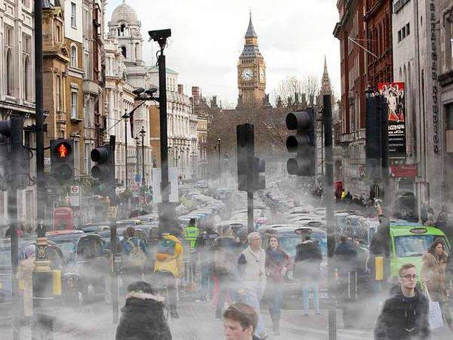 Air Quality Index'e göre Londra'nın kirlilik seviyesi 25. sırada yani diğer şehirlere oranla daha iyi.