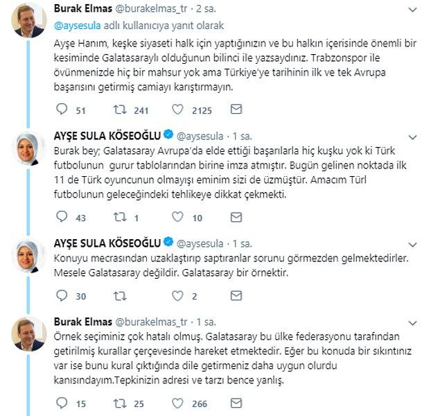 Galatasaraylı eski yönetici Burak Elmas'ta tartışmaya katıldı:
