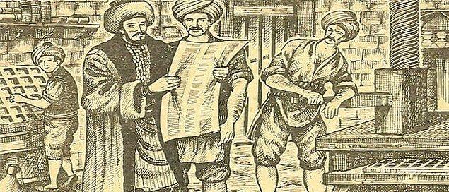 1727: İbrahim Müteferrika, Osmanlı'da basılmak üzere ilk kitap baskısı kalıplarını hazırlattı.
