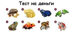 Тест: Выберите лягушку и узнайте, как достичь материального благосостояния
