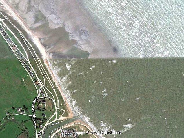 """9. """"Normandiya Sahili'ndeki yüksek ve düşük gelgit."""""""