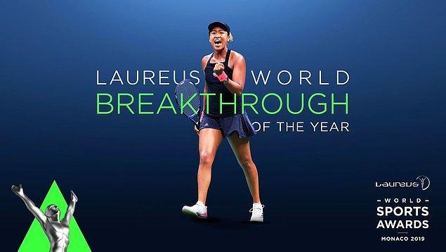 Yılın En İyi Çıkış Yapan Sporcusu: Naomi Osaka
