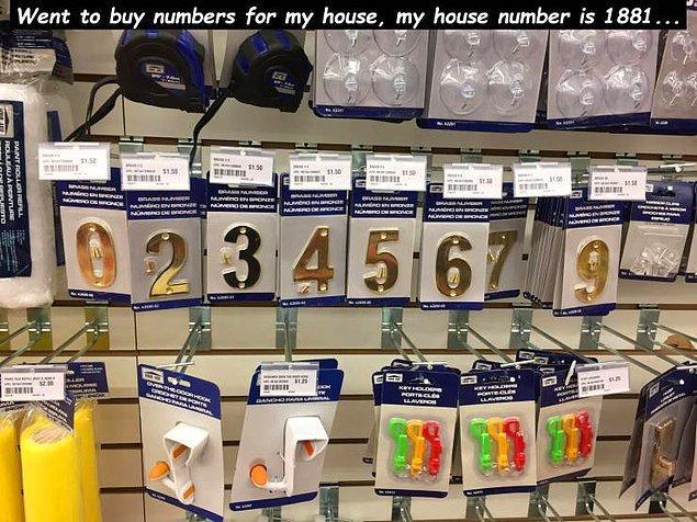 """""""Зашел в магазин купить цифры для обозначения номера дома. Я живу в доме №1881"""""""