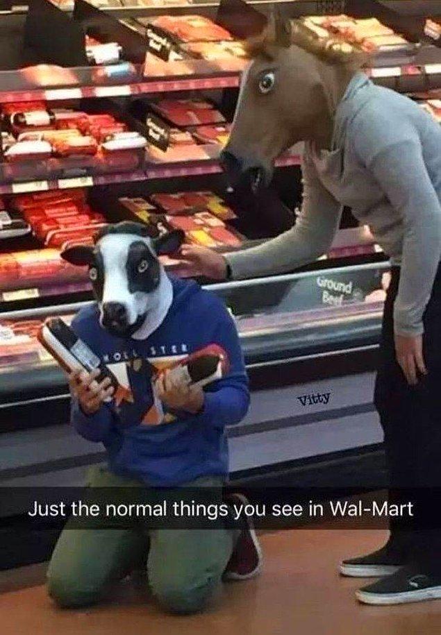 Обычный день в супермаркете