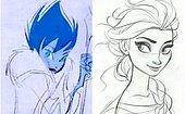 Небо и земля: Как изменились герои мультфильмов Дисней с момента первого эскиза