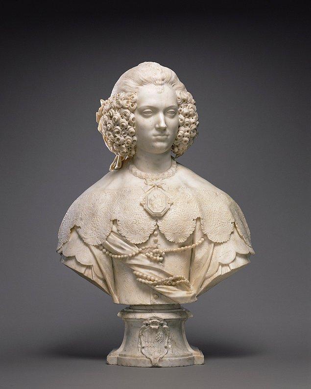 6. Bust of Maria Cerri Capranica, Giuliano Finelli, 1640.