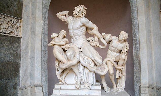 17. Laocoön and His Sons, Hagesandros, Polydoros ve Athanadoros.