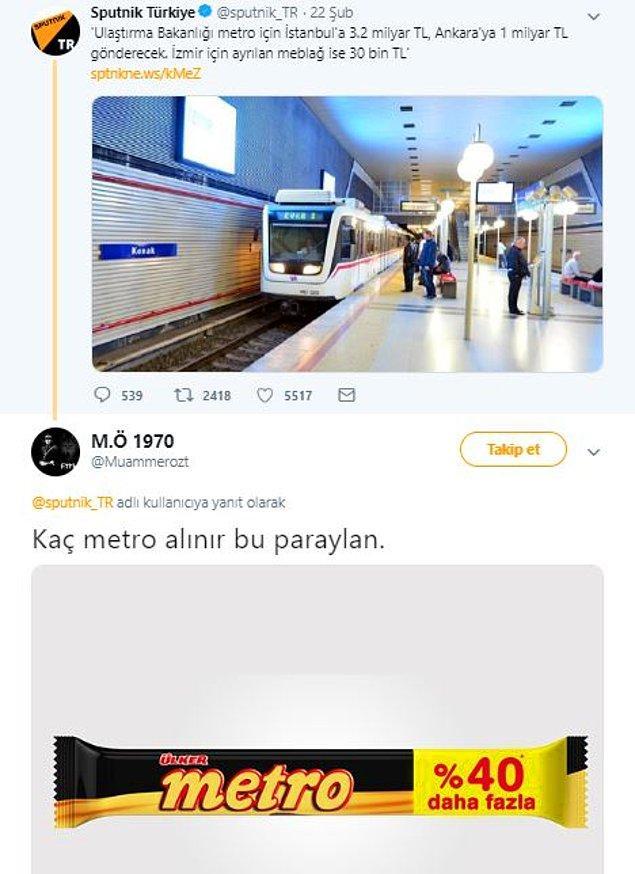 Bu paraya anca bu metro... :)