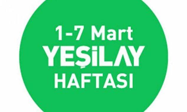 Yeşilay Haftası (1-7 Mart)
